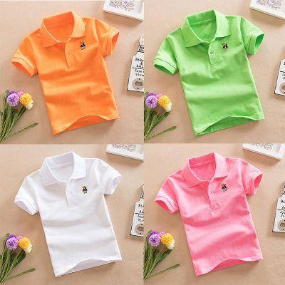 兒童T恤2020夏季新款男女童短袖襯衫小中大童棉Polo衫T恤短袖衣莎丞(SHACHEN)