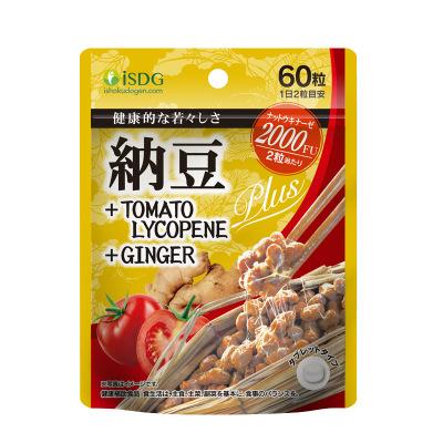 【纳豆激酶 呵护血管】ISDG 日本原装纳豆提取物纳豆激酶+番茄红素+生姜 60片/袋