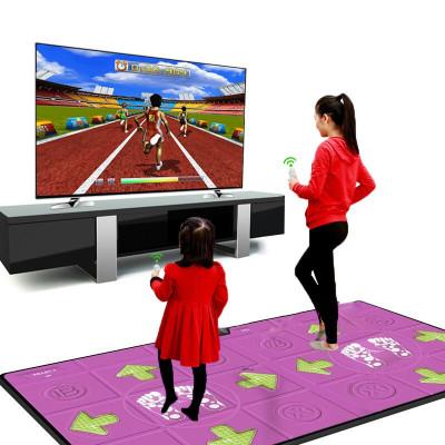 家庭跳舞毯瑜伽毯雙人跳舞毯家用體感游戲機兒童跳舞機家用雙人電視跑步毯游戲毯炫 雙人11mm毯+無線手柄+按摩墊+體感游戲