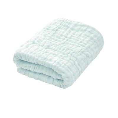 拉里寶貝嬰兒浴巾純棉超柔吸水洗澡六層紗布被子幼兒童寶寶新生嬰兒用品泡泡紗浴巾105*105cmLN9YM140一L