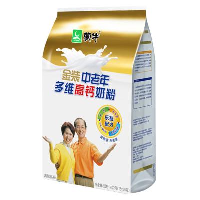 蒙牛(MENGNIU)金装中老年多维高钙奶粉袋装400g中老年成人冲饮