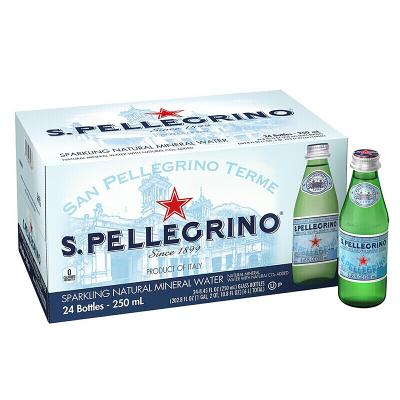 S.Pellecrino 圣培露 含气天然矿泉水 250ml*24玻璃瓶 小瓶装 意大利进口
