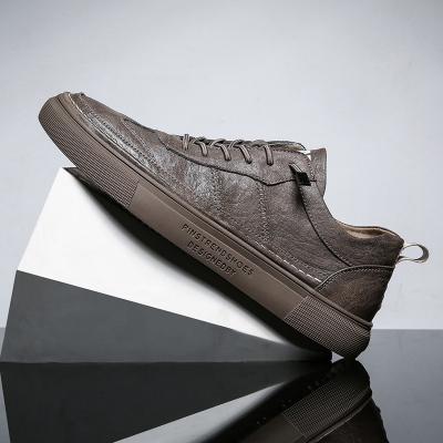 專成(ZHUANCHENG)男鞋春季潮鞋2020新款男士休閑鞋板鞋英倫皮鞋百搭平底單鞋RHC 9602-1