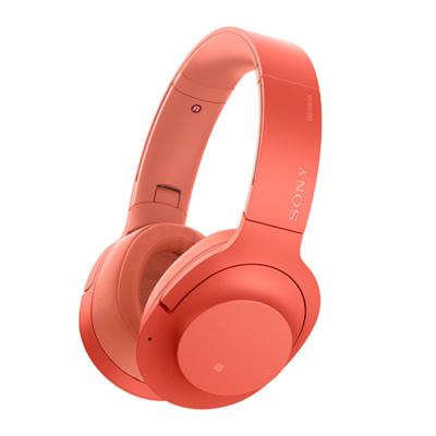 索尼(SONY)WH-H900N 高解析度无线降噪立体声耳机 暮光红