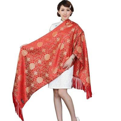 西祠宫坊南京云锦披肩围巾 中国风特色刺绣手工艺品出国礼品送老外女
