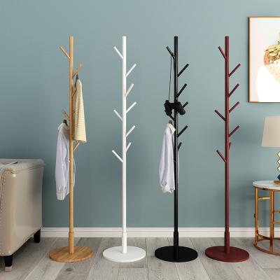 實木衣帽架落地衣架臥室衣服架法耐家用簡易單桿式創意簡約現代掛衣架