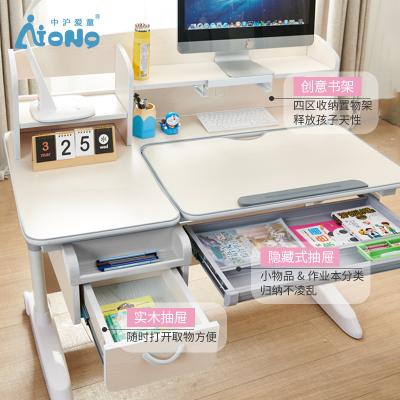 尋木匠寫字書桌實木 帶書架一體桌簡約現代北歐寫字臺 房書畫桌