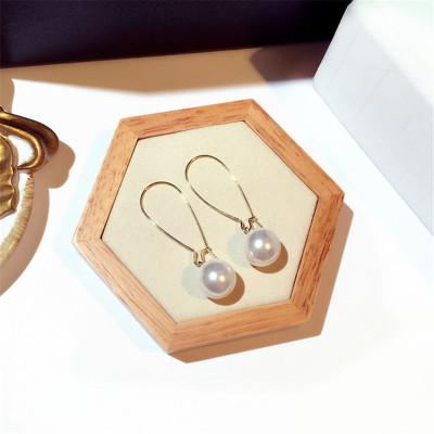 新款时尚韩国超仙纯银耳环精致潮流超美珍珠气质百搭简约个性耳环长款耳坠女配饰品生日礼物耳饰