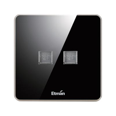 英特曼S3系列插座 电话电脑插座 S3TU/PC-B