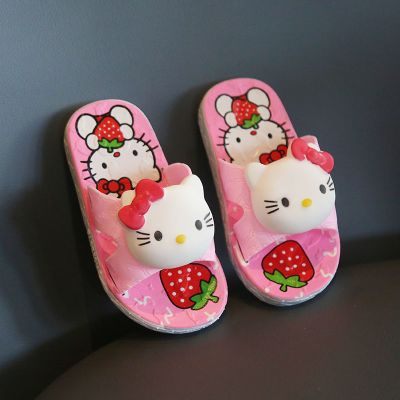 依蓝圣雪卡通儿童拖鞋夏女孩居家软底防滑洗澡托鞋男童女童小孩可爱凉拖鞋