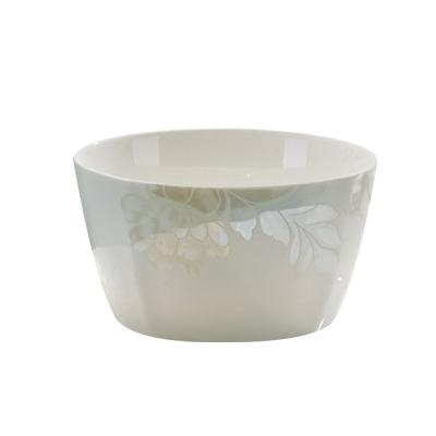 瓷物語骨瓷餐具套裝DIY搭配面碗/碗盤勺/湯碗/ 可微波 自由組合清雅名媛方形飯碗