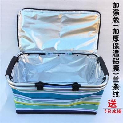 30大號外賣快餐包車載保溫包戶外野餐保溫餐箱折疊購物籃冰包