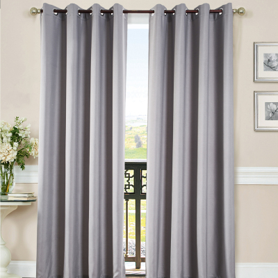 靜欣家居窗簾簡約現代素色工程窗簾布料批發 加厚三層梭織遮光絲絨麻 客廳臥室窗簾