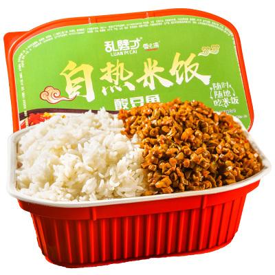亂劈才自熱米飯酸豆角190g 酸豆角寢室吃的速食晚餐懶人自加熱快餐即食盒飯夜宵充饑