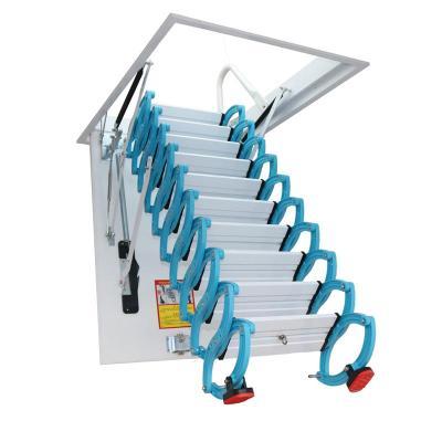 防滑加厚閣樓伸縮樓梯家用折疊升降式室內伸拉定制隱形梯復式躍層定制 超強加厚鋼制80*120