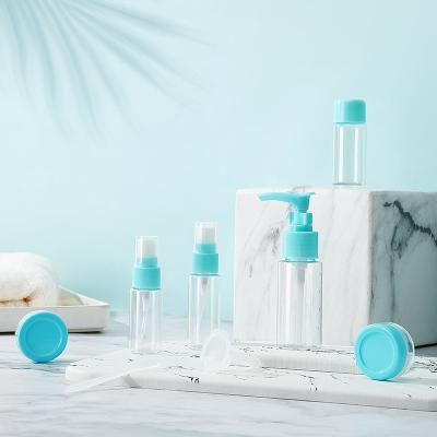 第九城(V.NINE) 分装瓶女士出差旅行小空瓶洗头水沐浴乳乳液分液体瓶子7件套装