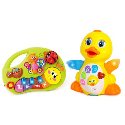 匯樂玩具EQ搖擺大黃鴨808+手指啟蒙音樂琴927  嬰幼玩具智力開發