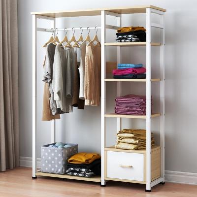 简易衣帽架落地挂衣服架子卧室家用简约现代置物架挂包架晾衣架柜
