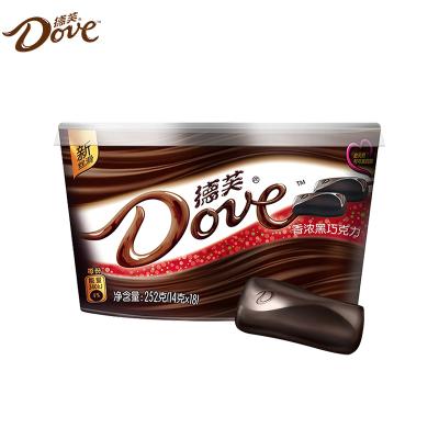 德芙巧克力碗裝香濃黑巧克力252g碗裝送女友巧克力條裝喜糖批發