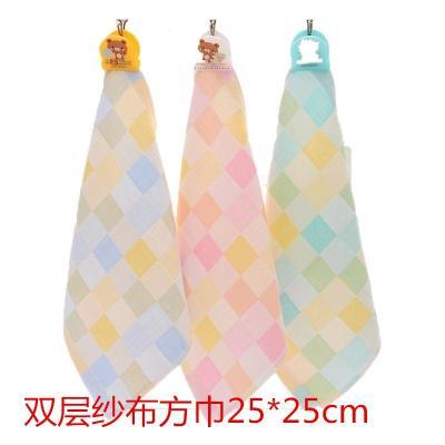 8條裝 雙層紗布幼兒園寶寶小方巾口水巾巾手帕喂奶巾