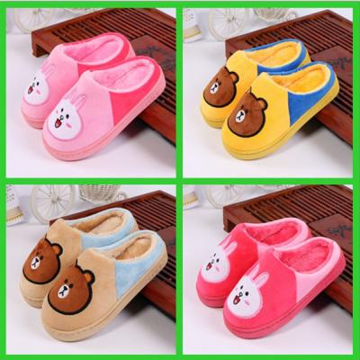 兒童棉拖鞋冬男女童小孩寶寶冬季居家可愛防滑保暖棉拖鞋厚底包跟