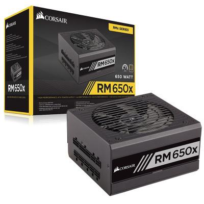 美商海盜船RM650X 額定650W全模組/靜音低載風扇停轉 ATX電源 主機電源