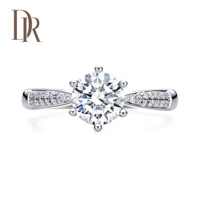 DR Darry Ring求婚鉆戒 FOREVER系列奢華款 白18K金女士戒指 鉆石戒指正品定制