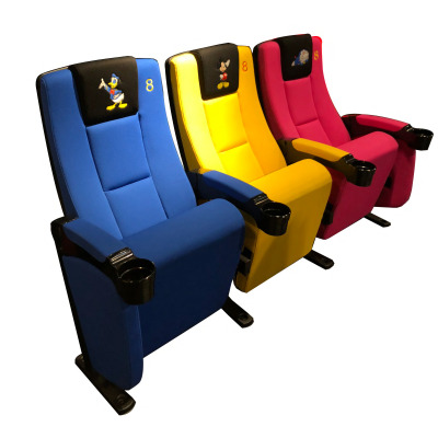 RD5509B刺绣卡通logo高级麻绒普通座椅