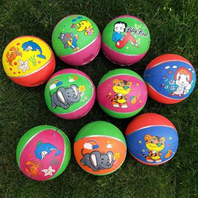 抖音網紅迷你小彈力球戶外運動玩具兒童三號籃球體育室內3歲以上