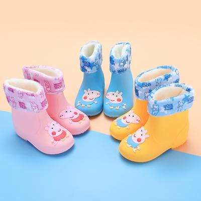 迈凯恩品牌萌物卡通宝宝小孩儿童雨鞋男童女童雨靴防滑中童小童水鞋幼儿胶鞋