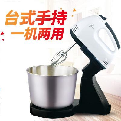 銘濱(Mingbin) 打蛋器 臺式家用電動打蛋機 手持打奶油機不銹鋼四棒蛋糕烘焙打發器 多功能小型電動和面攪拌機料理機