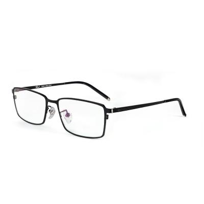 普萊斯(Pulais)近視眼鏡架男防藍光輻射眼睛護目鏡 輕盈純鈦眼鏡框 大方形全框鏡架可配近視 2034 單鏡架