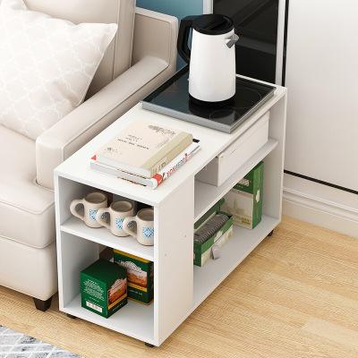騰煜雅軒 簡約現代書房客廳家具人造板式可移動小茶幾迷你沙發邊柜邊幾小柜子床頭桌小茶桌小方幾邊幾角幾