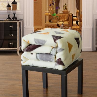 冬季拉舍尔毛毯法兰绒珊瑚绒加绒床单毯子双层床垫被子保暖