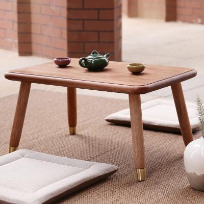 汐巖海棠木實木榻榻米桌子小茶幾日式矮桌簡約飄窗茶幾禪意創意炕桌幾