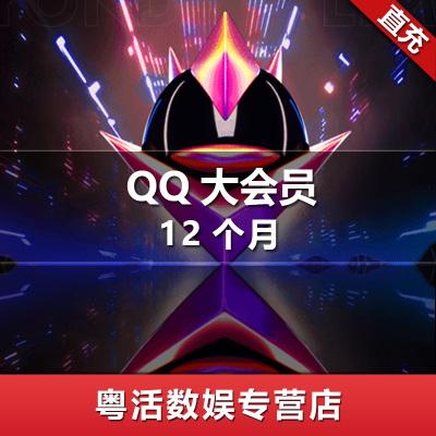 騰訊QQ大會員 QQ大會員十二個月 QQ大會員12個月 qq超級會員 qq豪華黃鉆 自動充值 粵活充值