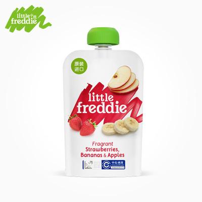 Little Freddie小皮 香蕉草莓蘋果泥 100g/袋