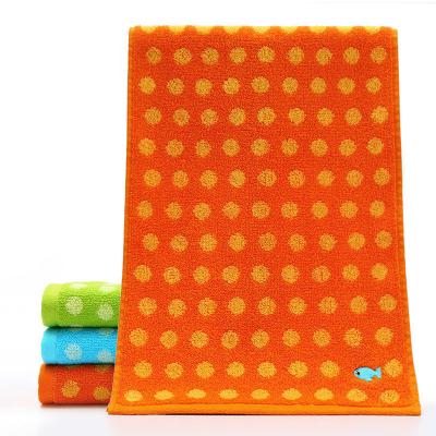 潔麗雅grace 全棉童巾卡通兒童毛巾吸水小面巾1條裝 純棉 50*25cm
