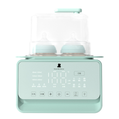 小白熊雙邊暖奶器多功能消毒暖奶調奶器恒溫泡奶器可加熱輔食綠色HL-5021