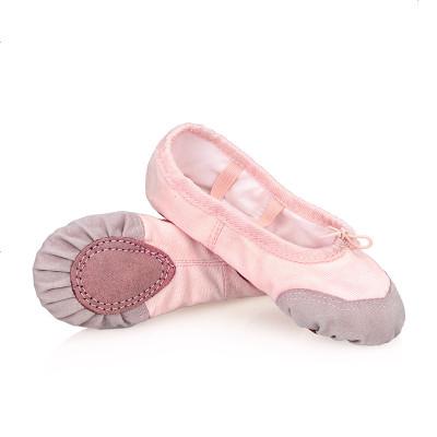 儿童舞蹈鞋体操鞋白幼儿园演出鞋小白国风女童练功步粉色蓝色