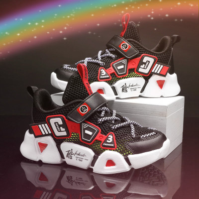 2020年新款透氣網面鞋男童中大童運動跑步鞋小學生兒童男運動鞋