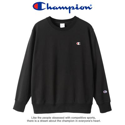 Champion 冠军秋冬季情侣款男女士经典小logo圆领T恤宽松圆领运动卫衣 9041