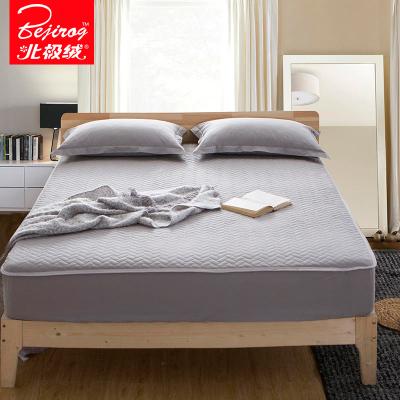 北极绒(Bejirog)家纺 纯棉床笠单件全棉床罩床垫套加厚夹棉纯色保护套防尘罩全包防滑