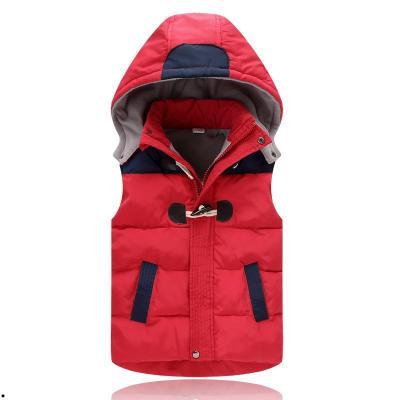 韩版儿童羽绒服马甲连外穿帽男童女童加厚背心无袖外套马夹童装潮