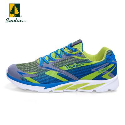 Sevlae/圣弗萊戶外休閑鞋男網面徒步鞋透氣減震舒適跑步鞋男鞋子9611913348