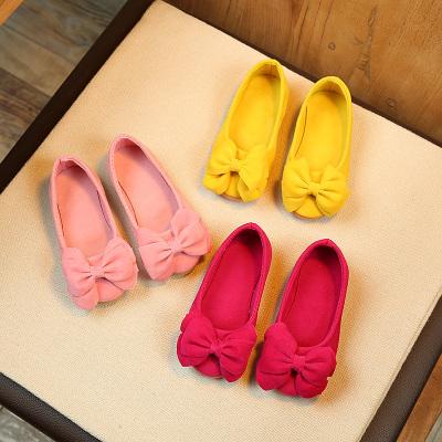 邁凱恩品牌女童公主鞋2019秋季新款兒童皮鞋防滑軟底寶寶豆豆鞋子小女孩單鞋