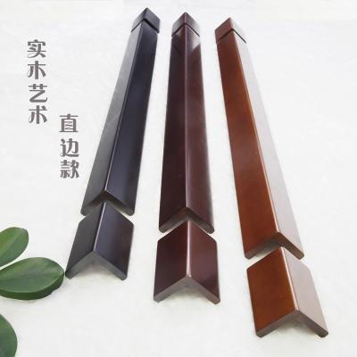 純實木護墻角護角條墻角保護條護角線陽角保護條防撞條4條免郵 直邊款純黑色 120厘米+2個10厘米