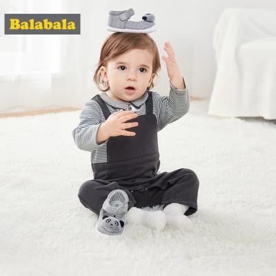 巴拉巴拉嬰兒鞋0-1歲步前鞋軟底 男女六個月寶寶鞋萌新款春春