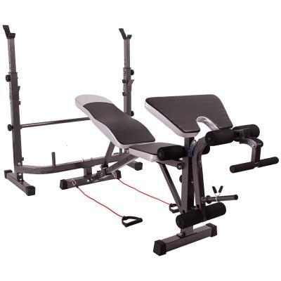 因樂思(YINLESI)健身器材多功能舉重床 家用男女臥推杠鈴床深蹲架杠鈴套裝杠鈴臥腿高拉