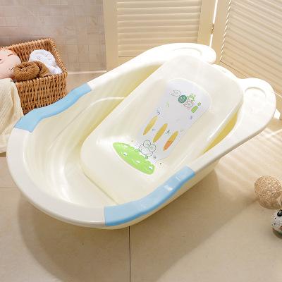 DuDi/青蛙嘟迪 新生嬰兒浴盆加厚寶寶無味加厚躺板浴盆兒童澡盆 藍白